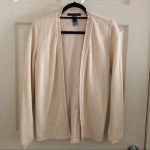 Ivory / cream Scotch and Soda sweater blazer